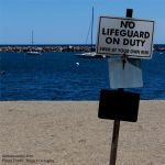 Photo of No Lifeguard on Duty sign on Nervous Fur Mama Dog Mom Blog on Not So Mommy