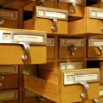 Photo of Card Catalog with some Drawers Open on Our Obsession with Labels Uniquely Me Infertility Blog on Not So Mommy