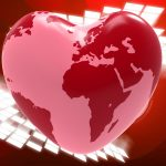 """Photo of a heart with a world map on it featured on """"When dreams collide"""" Host Mom Blog on Not So Mommy"""