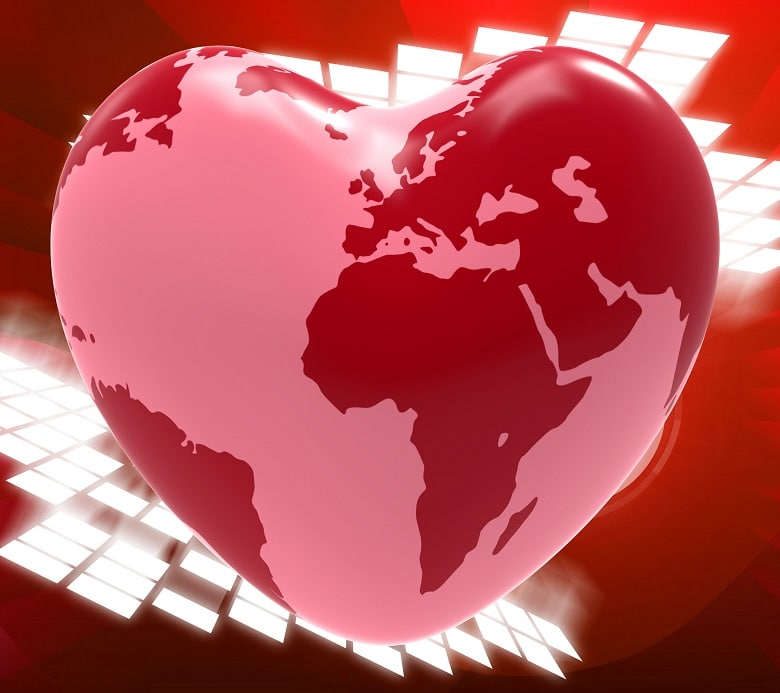 "Photo of a heart with a world map on it featured on ""When dreams collide"" Host Mom Blog on Not So Mommy"