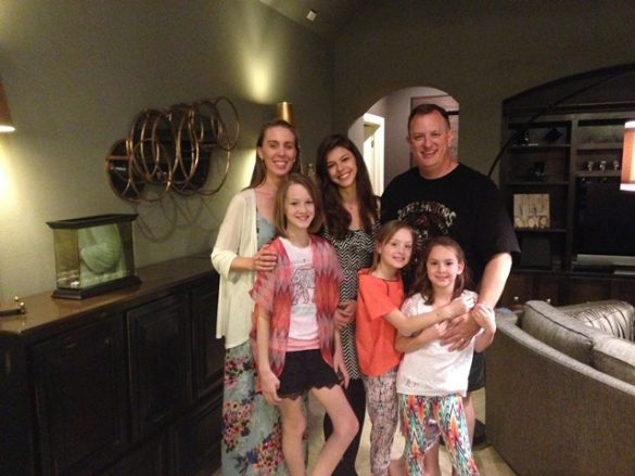 Photo of Brandi, Bruna, Dane, and our three nieces on Not So Mommy... Photo Gallery