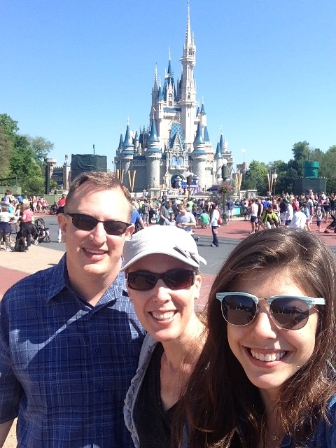 Photo of Dane, Brandi, & Bruna in front of Cinderella's Castle on Not So Mommy... Photo Gallery