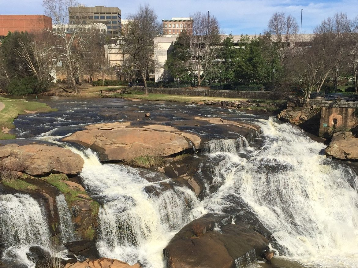 Photo of Falls Park in Greenville, SC on Good Things: Greenville, SC & Dog-Friendly Cities on Good Things & Dog Mom Blog on Not So Mommy