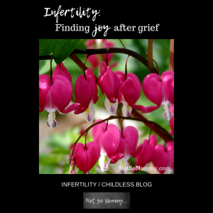 Photo of bleeding hearts flower on Infertility: Finding Joy after Grief Infertility Blog on Not So Mommy