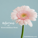 Photo of a single pink flower on Reflections on World Childless Week on Infertility Blog on Not So Mommy...