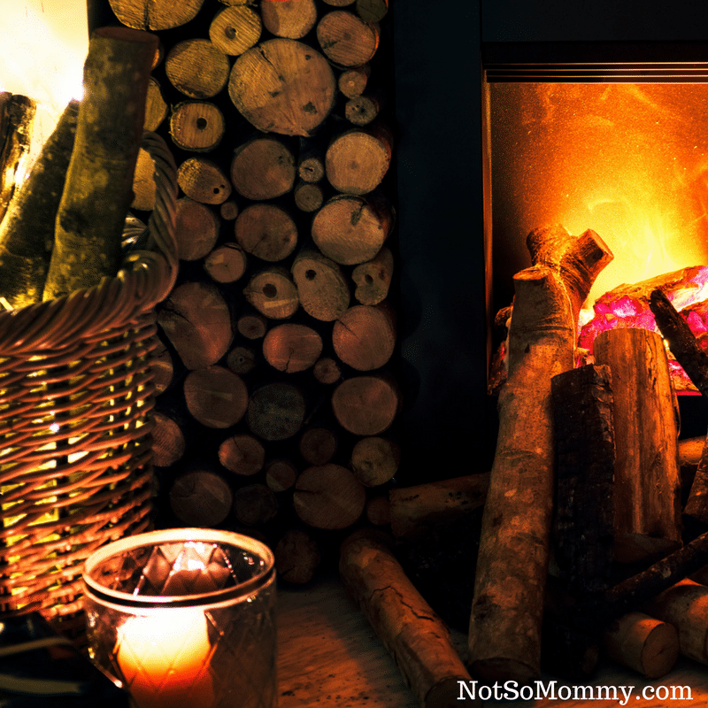 Photo of fire burning in fireplace on Childless Holidays on Infertility/Childless Blog on Not So Mommy...