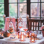 Photo of a table set for Christmas with two seats on Mr. and Mrs. Claus: A Childless Couple on Infertility Blog on Not So Mommy...