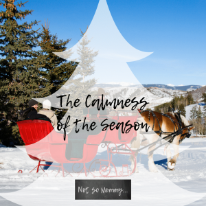 The Calmness of the Season - Blog 8 on Childless Holidays Series on Not So Mommy...
