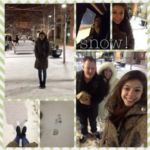 Photo Collage of Bruna's First Snow on Good Things Blog on Not So Mommy...