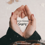 Photo of a woman's hands holding a snowball shaped like a heart on Good Things: Snow Good Things Blog on Not So Mommy...