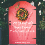 Photo of a Red Door With a Wreath on Pretty Outside, Chaos Inside: The Infertility Battle on Infertility/Childless Blog on Not So Mommy...