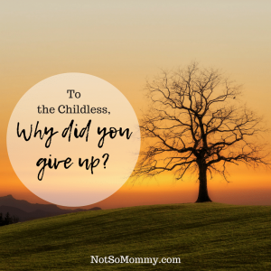 Photo of a single tree barren of leaves with the sunset in the background on To the Childless, Why did you give up? on Infertility/Childless Blog on Not So Mommy...