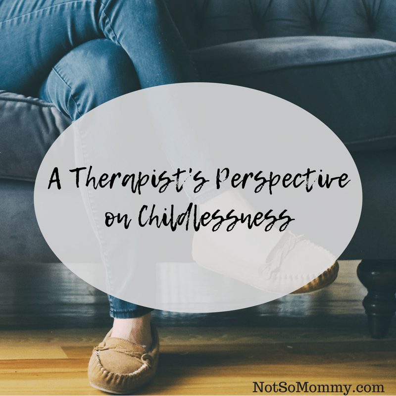 Photo of a woman sitting cross-legged on a sofa on A Therapist's Perspective on Childlessness on Not So Mommy...