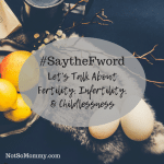 Photo of eggs sitting on a piece of fur with a branch containing a few flowers on #SaytheFword: Let's Talk About Fertility, Infertility, & Childlessness on Not So Mommy...