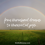 Photo of an open field with a rainbow stretching across on From Unrealized Dreams to Unexpected Joys... on Infertility/Childless Blog on Not So Mommy...
