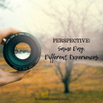 Photo of a hand holding a lens on Perspective: Same Day, Different Experiences on Infertility/Childless Blog on Not So Mommy...