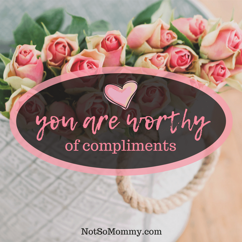 Photo of a light grey bucket filled with pink roses on You are worthy of compliments on Not So Mommy... Childless/Infertility Blog