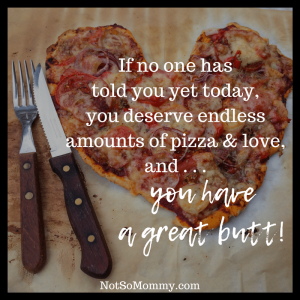 Photo of a heart shaped pizza on Not So Mommy..., a childless blog