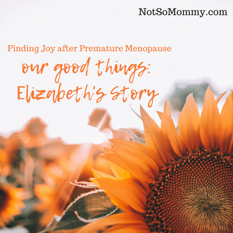 Photo of a sunflower on Our Good Things: Elizabeth's Story on Not So Mommy..., a Childless Blog