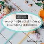 Photo of sweets on different colored spoons on Lemons, Lollipops, and Lessons of Infertility & Childlessness on Not So Mommy... Blog