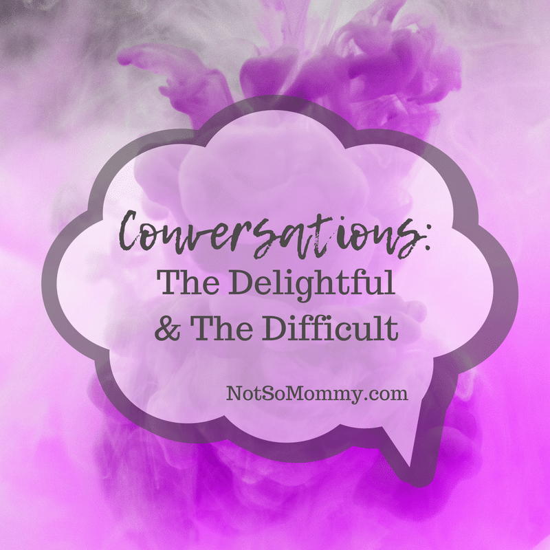 Abstract photo of a purple cloud on Conversations: The Delightful and The Difficult on Not So Mommy..., a Childless Blog