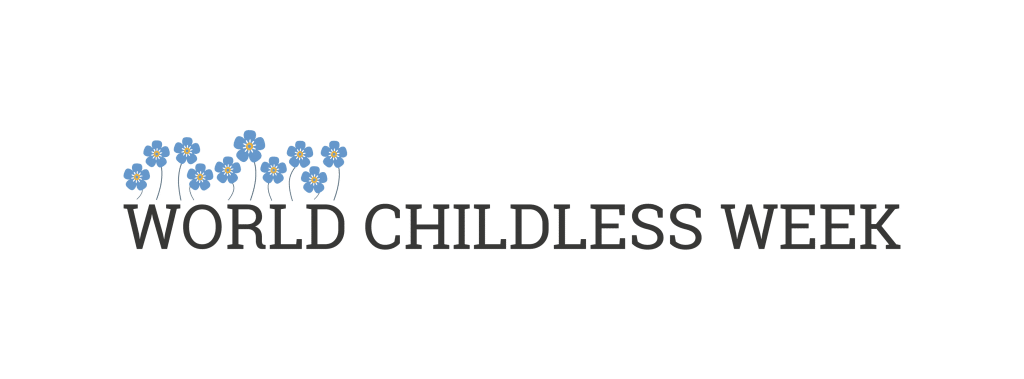 World Childless Week Logo with Blue Forget Me Not Flowers on Not So Mommy...