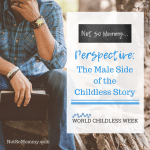 Photo of a man sitting on a tree stump on Perspective: The Male Side of the Childless Story on Not So Mommy..., a childless blog