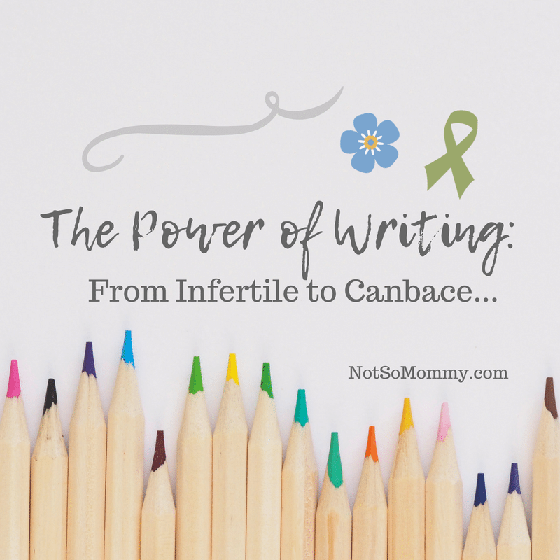 Photo of colored pencils on The Power of Writing: From Infertile to Canbace on Not So Mommy..., a childless blog