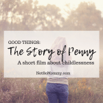Photo of a woman standing alone in a field on The Story of Penny, a short film about childlessness - A Good Things Blog on Not So Mommy...
