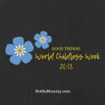 Photo of the forget-me-not symbol of World Childless Week on Good Things Blog on Not So Mommy...