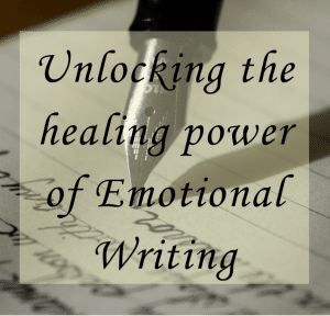 "Photo of an old-fashioned pen writing in cursive on ""Unlocking the Healing Power of Emotional Writing,"" written by Nicci Fletcher of The Canbace Diaries"