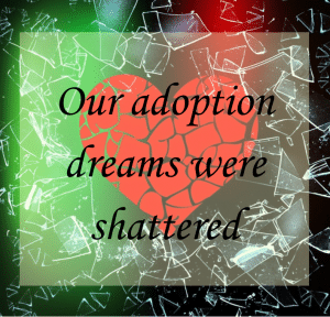 Photo of a shattered heart on Our Adoption Dreams Were Shattered, Nicci & Andrew Fletcher's Childless Not By Choice Story