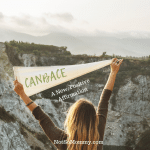 Photo of a woman holding a flag which says CANBACE on CANBACE: A New, Positive Affirmation for the Childless on Not So Mommy... Good Things Blog