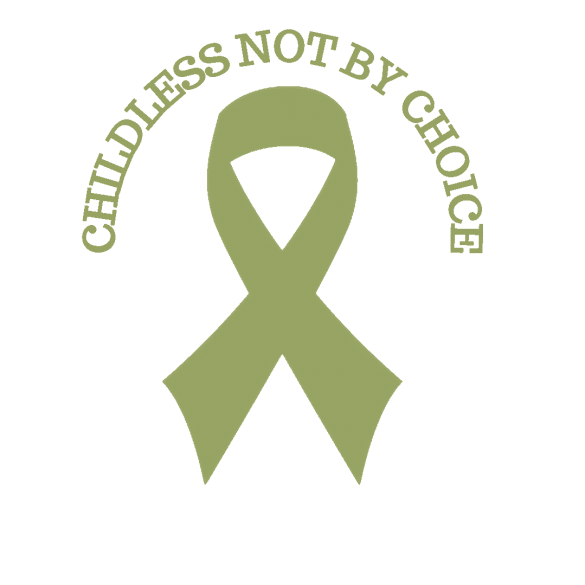 Olive Green Childless Not By Choice Awareness Ribbon on Not So Mommy...
