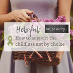 "Photo of a woman holding a basket of purple flowers on ""Helpful: How to support the childless not by choice"" on Not So Mommy..., a childless blog"