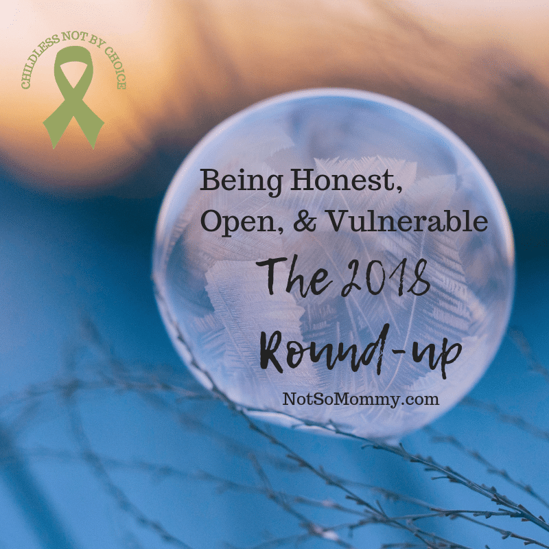 Photo of an ice glass ball on Being Honest, Open, & Vulnerable: The 2018 Round-up on Not So Mommy..., a childless blog