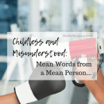 Photo of a bullhorn and a boxing glove on Childless and Misunderstood: Mean Words from a Mean Person..., on Not So Mommy..., a childless blog