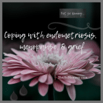 Photo of a single light pink flower on Coping with Endometriosis, Menopause, & Grief, on Not So Mommy... a childless blog