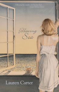 "Photo of a woman looking out a window over the sea, the book cover for Following Sea, featured on ""A Review of Following Sea,"" on Not So Mommy..., a childless blog"