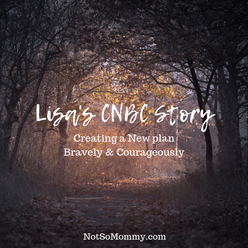 "Photo of a pathway going from dark to light on ""Lisa's CNBC Story"" on Not So Mommy..., a childless blog"