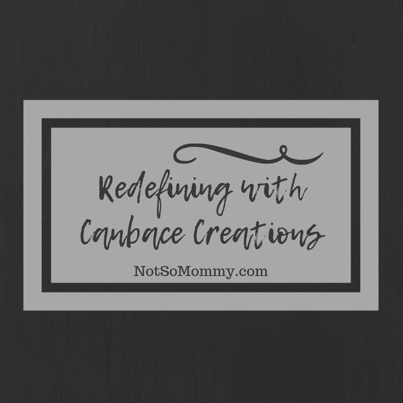 "Black and Grey Image on ""Redefining with Canbace Creations,"" on Not So Mommy..., a childless blog"