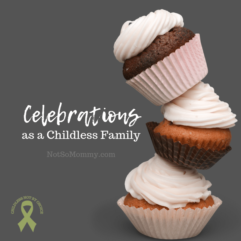 Photo of a crooked stack of cupcakes on Celebrations as a Childless Family on Not So Mommy..., a childless blog