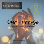 "Photo of hands holding string of lights on ""Our Purpose: Support, Educate, Advocate"" on Not So Mommy..., a childless blog"