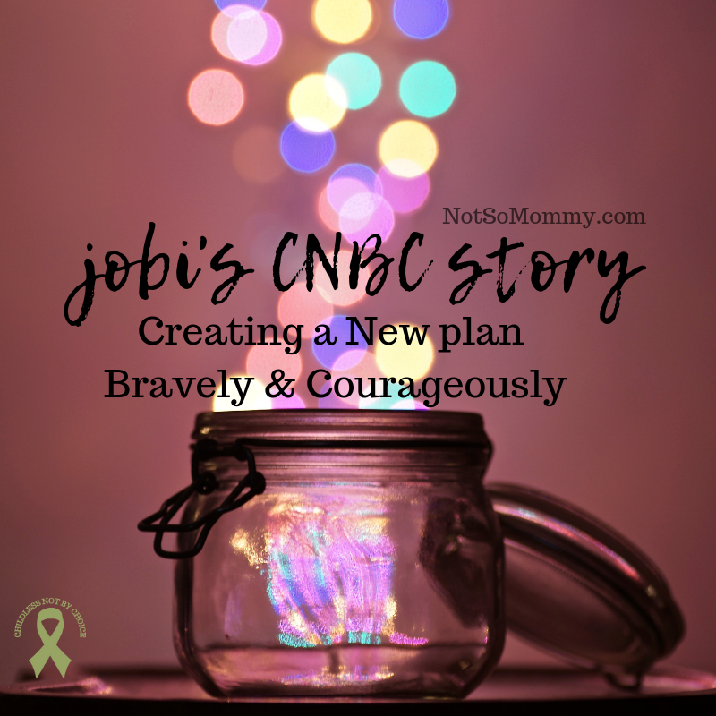 Photo of a glass jar with different colored sparkles coming out the top on Jobi's CNBC Story on Not So Mommy..., a childless blog