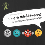 Photo of various emojis on Not So Helpful Comment to the Childless from the Clueless on Not So Mommy..., a childless blog