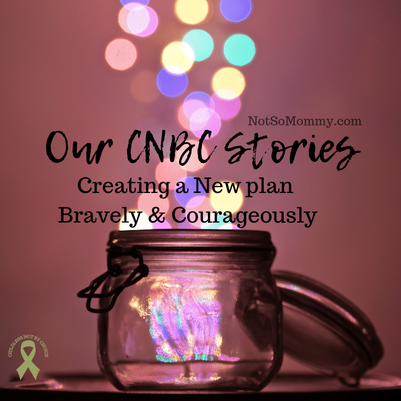Photo of a jar with multicolored sparkles coming out the top on Our CNBC Stories on Not So Mommy..., a childless blog