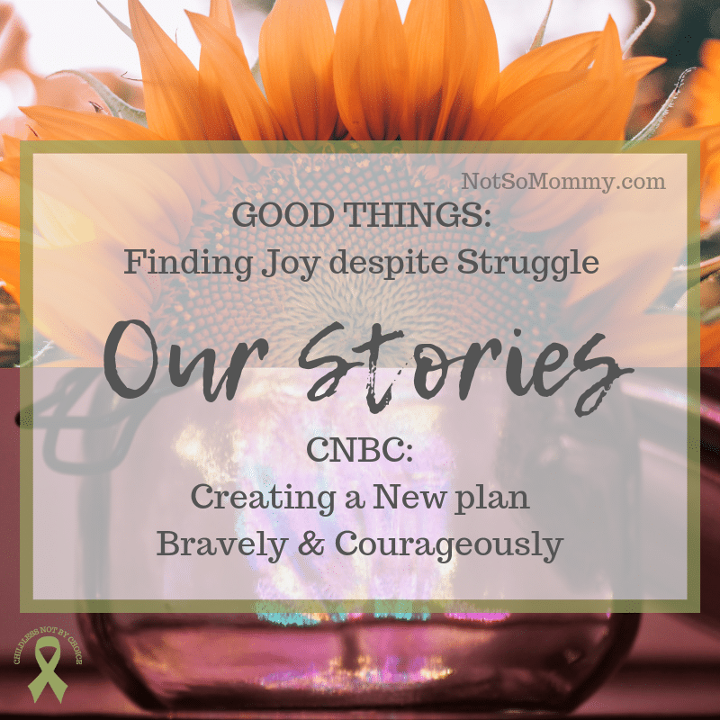 Photo of a jar shimmering with multicolored lights and an orange sunflower on Our Stories on Not So Mommy..., a childless blog