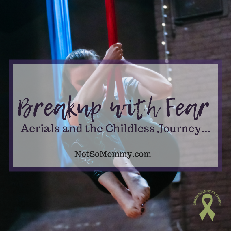 Photo of Brandi Lytle, founder of Not So Mommy..., performing at Skyward Aerial Arts & MAYA Movement Arts Student Showcase on Breakup with Fear: Aerials and the Childless Journey on Not So Mommy..., a childless blog