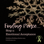 Photo of a gold snowflake on a black background on Finding Peace in Childlessness: Step 2 - Emotional Acceptance on Not So Mommy..., a childless blog