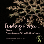 Photo of a gold snowflake on a black background on Finding Peace in Childlessness: Step 3 - Acceptance of Your Entire Journey on Not So Mommy..., a childless blog